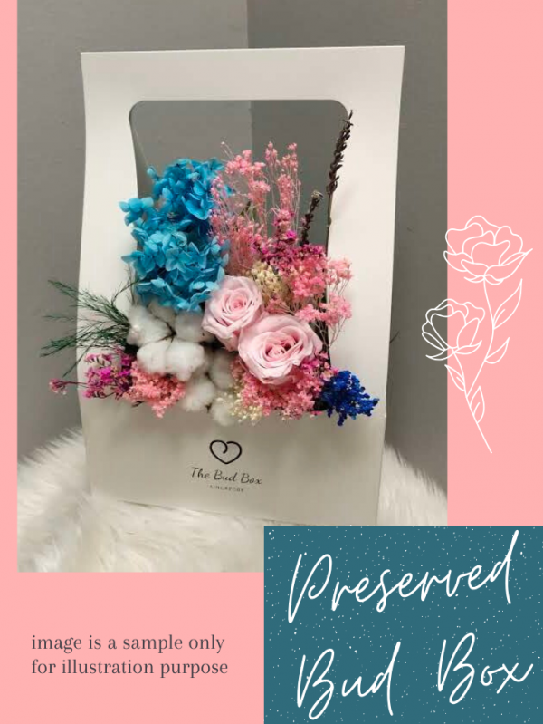 Preserved Rose and Hydrangea Dried Flower Normal
